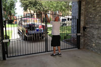 Wrought Iron Entry Gates in Allen, Texas